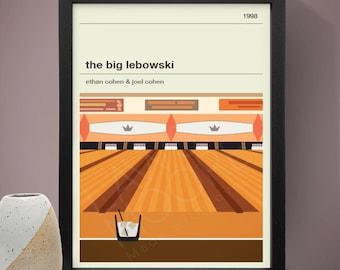 THE BIG LEBOWSKI Inspired Movie Poster - Movie Poster, Movie Print, Film Poster, Film Poster