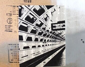Washington DC Subway Print - Washington DC Train Station Art - Black and White DC Artwork