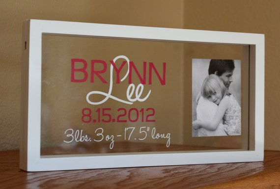 Custom personalized baby name and stats frame negle Choice Image