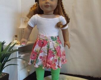 Ring Around the Rosy Skirt & Leggings--Fits 18 Doll LIKE American GIrl
