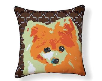 Pomeranian Pop Art Pillow
