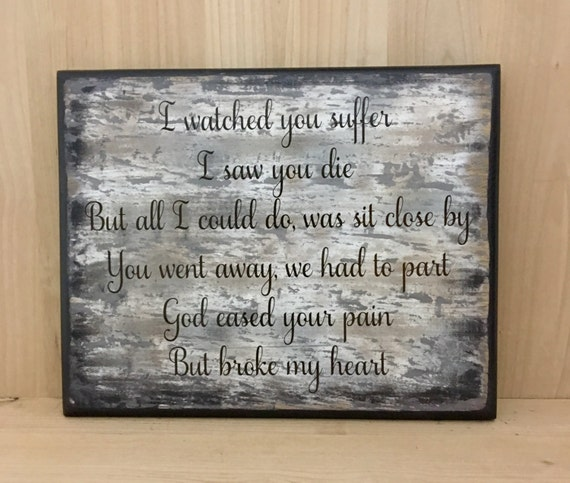 Sympathy Quotes For Loss Of Husband And Father: Memorial Sign Custom Wood Sign Memorial Gift Sympathy Gift
