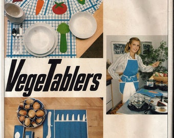 Vintage 1970's Vogue 1892 VegeTablers Kitchen and Picnic Accessories and Transfer Sewing Pattern