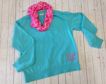 Comfort Colors Monogrammed Ladies Sweatshirt