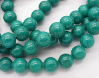 a lovely 20 10 mm Green jaspe Emerald jade beads dyed