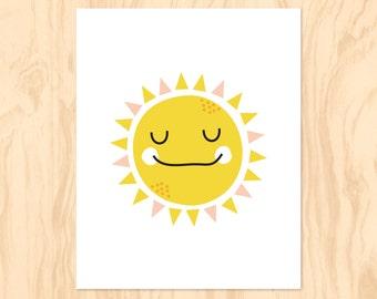 SUNNY SMILES : Printable Art, Nursery Art, Kids Wall Art, Instant Download, Wall Art