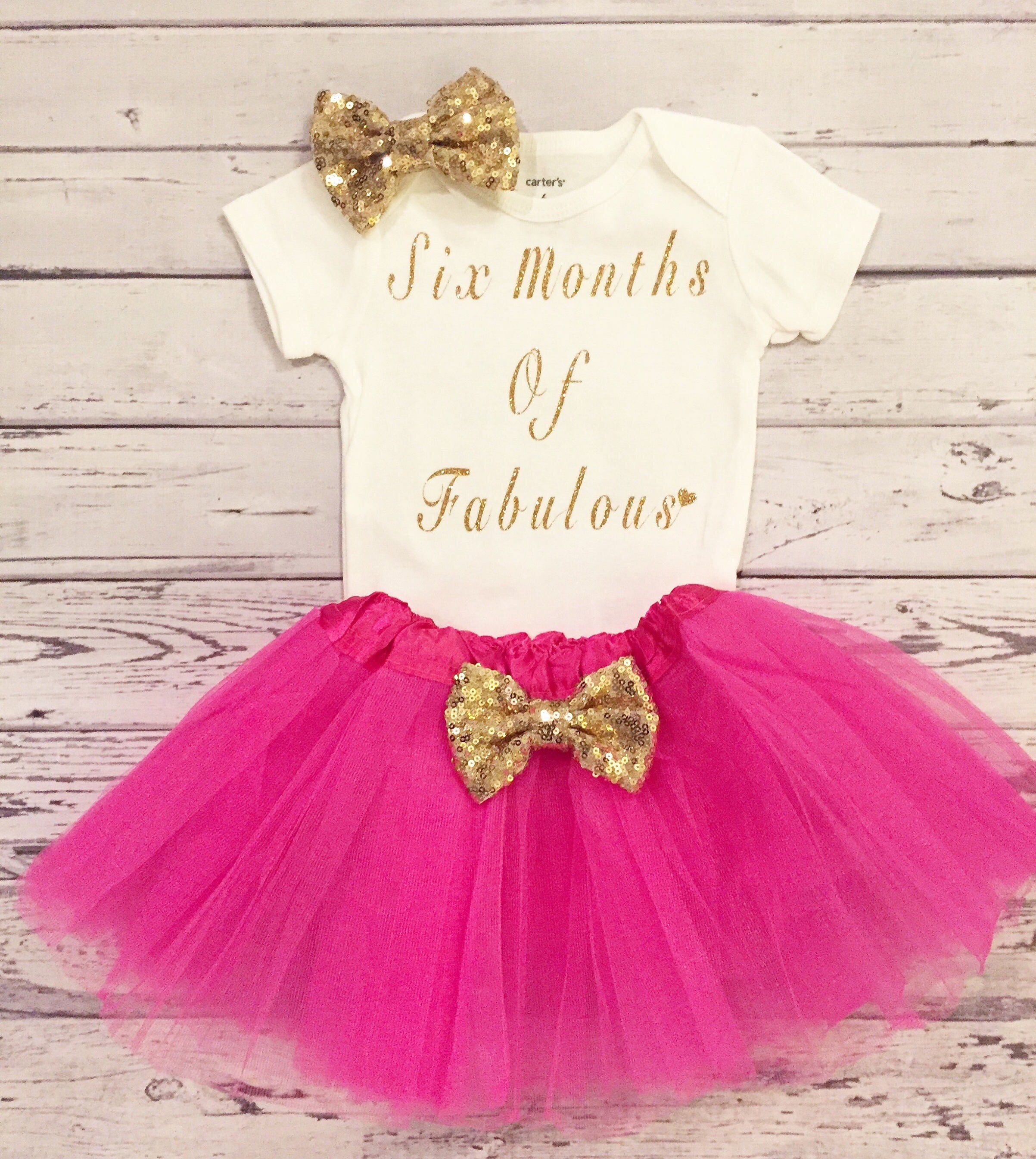 Baby girl six months of Fabulous Bodysuit 6 month girls outfit