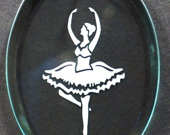 Carved Glass Ballerina Ornament