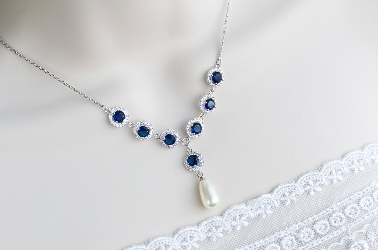 item necklace sets accessories silver in on sterling bracelet natural from set blue jewelry sapphire gemstone