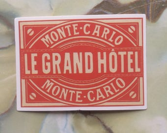 Vintage Inspired Travel Luggage Sticker Luggage Tag