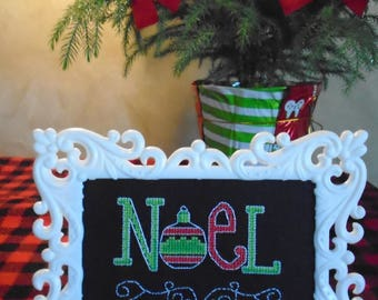 "Counted Cross Stitch Picture ""Noel"""