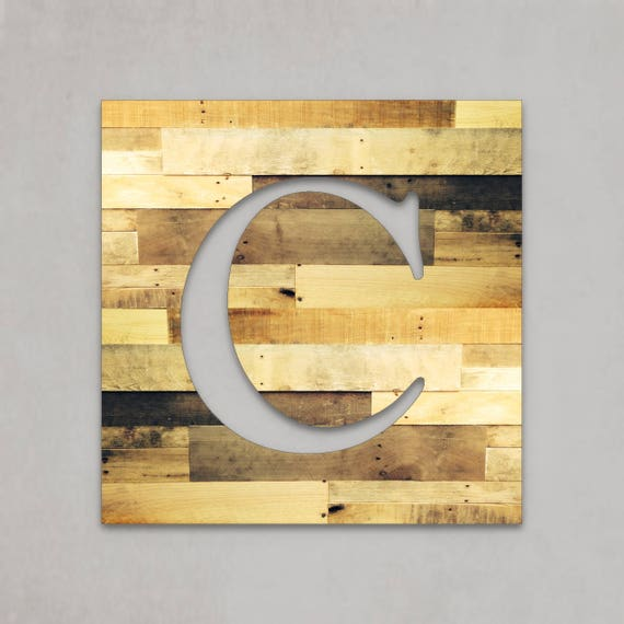 Large wood letters rustic letter cutout custom wooden wall spiritdancerdesigns Gallery