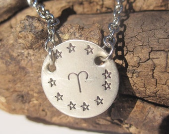 Aries Necklace Aries Jewelry Zodiac Jewelry Zodiac Necklace Personalized Jewelry Handmade Astrology Jewelry