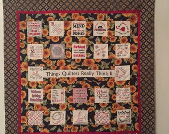 What Quilter's Say - Quilted Wall Hanging