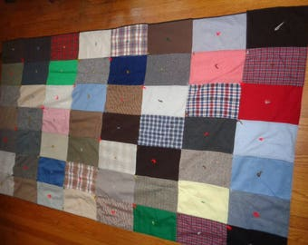 "Wonderful old Patch Quilt 87"" X 50"""