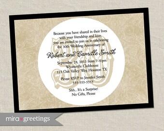 30th Anniversary Invitation - Printable Digital File