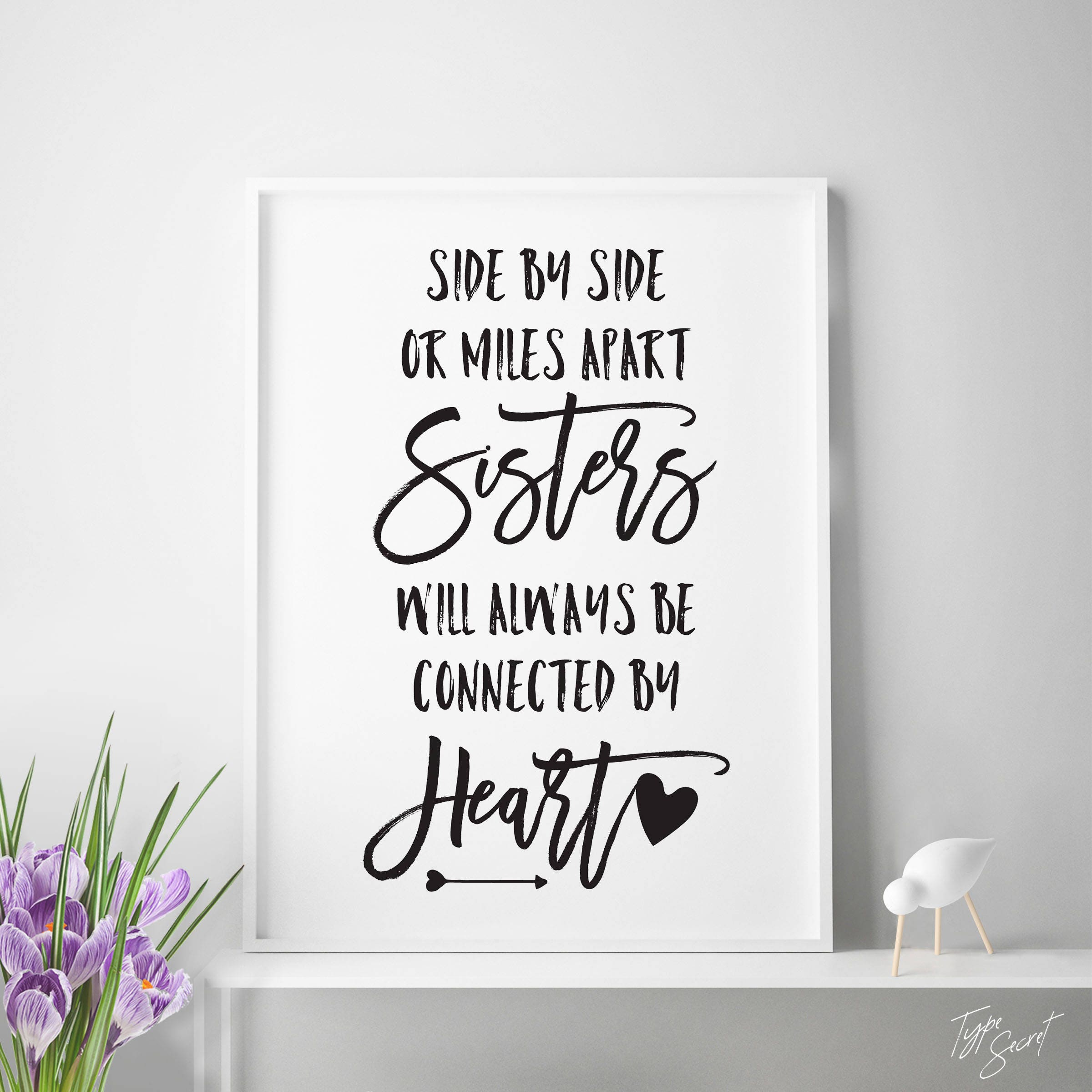 Printable Sister Quotes Sisters Quote Sisters Wall Art Big