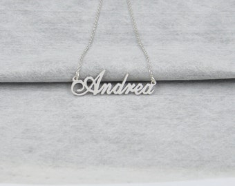 Name necklace sterling silver-Perfect Valentine Gift-custom name jewelry for women