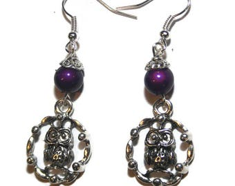 Your purple OWL post earring