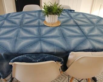 Shibori Indigo tablecloth.