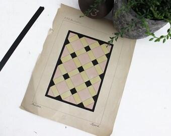 Affiche art déco, Art déco impression, géométrique Art déco, Vintage Poster, impression d'Art géométrique, Art Déco murale Art, Art Français, Art déco - E370