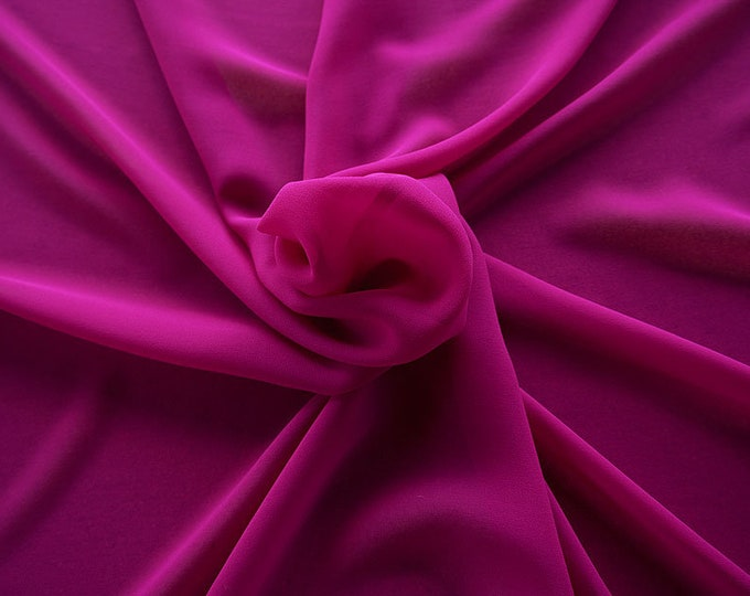 301124-crepe de Chine natural silk 100%, wide 135/140 cm, made in Italy, dry-washed, weight 88 gr