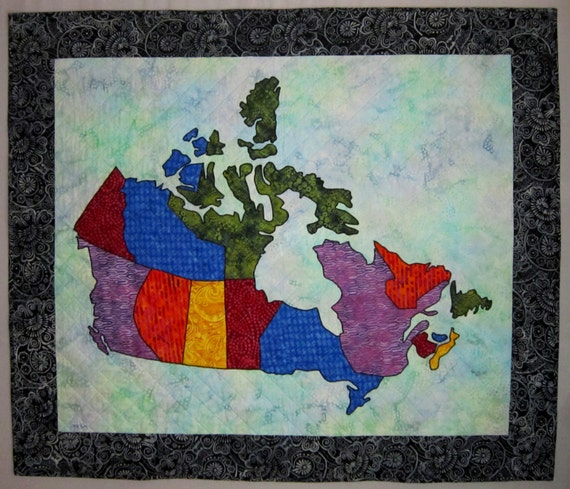 PDF Pattern Canada Patchwork Map Quilt Pattern from Quilts by : canada quilt - Adamdwight.com