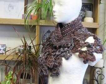 Elven Vines Lace Shawl, Witch Fashion, Mori, Strega, Woodland Elf, Lattice Lace Scarf, Shoulder Wrap, Gothic, Victorian