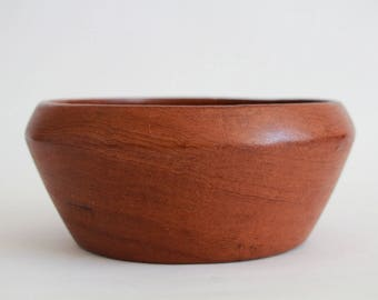 Bowl, made of teakwood, vintage, 60er, denmark