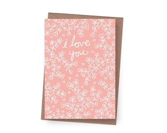 SALE I Love You Greeting Card - 60% off