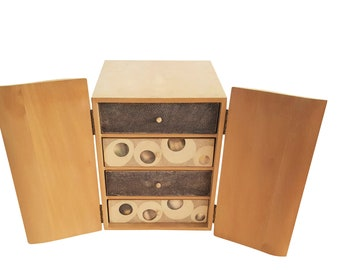 R & Y Augousti Jewelry Box / Chest of Exotic Wood and Shagreen