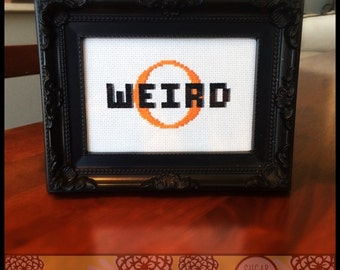 Weird-O Cross Stitch Pattern (Printable PDF) - Immediate Download from Etsy - SugarStitch