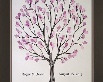 Tempo Wedding Thumbprint Tree for up to 150 Guests
