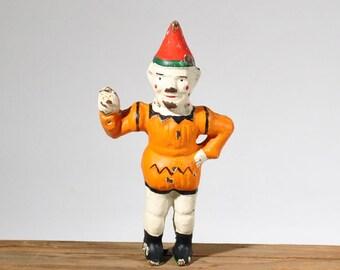 Salvaged Cast Iron Clown from Mechanical Bank