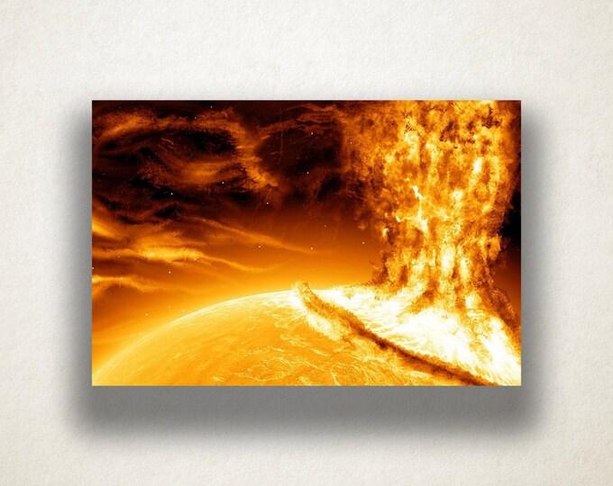 Solar Flare Canvas Art Print, Solar Flare Wall Art, Sun Canvas Print, Sun Close Up Wall Art, Canvas Art, Canvas Print, Home Art, Wall Art
