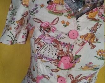 Rare 50s bunny rabbit top jacket easter bunny