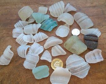 Irish Sea Glass pieces ~ Bottle rims & ridges mixed 200g ~ Northern Ireland coast ~ jewellery making, mosaic, arts craft
