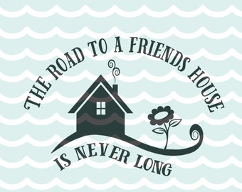 SVG Friends The road to a friends house is never long art