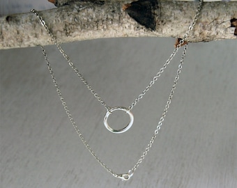 Silver Plated Twist Karma Circle Necklace