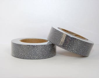 Masking Tape Washi Tape in Black Glitter - glitter