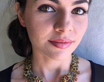 HONEY beaded statement necklace by Colleen Toland