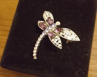 Swarovski Pin Brooch - Crystal Dragonfly