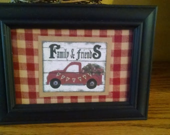 Little Red Truck Framed Picture