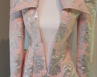 Pink and Silver Steampunk Jacket