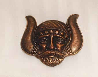 Copper Viking Brooch #28