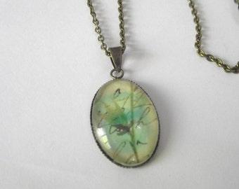 Vintage Looking Bronze Antique Brass Floral Necklace