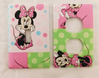 Minnie Mouse Light Switch Plate Outlet Plug Cover Custom Set