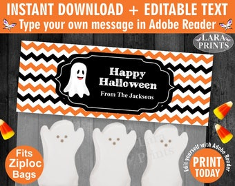INSTANT DOWNLOAD / edit yourself now / Printable / Treat Bag toppers / Favor Tags / Birthday Party / Halloween / Fall / tag / TBH1