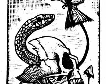Linocut, print