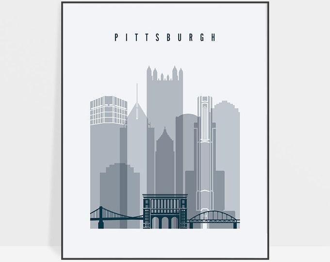 Pittsburgh art, Pittsburgh skyline print, poster, Travel, wall art, Pennsylvania, City print, Gift, Typography art Home Decor ArtPrintsVicky